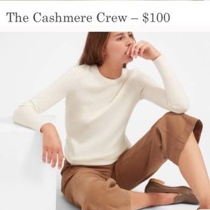 Everlane the cashmere crew bone white sweater XXS